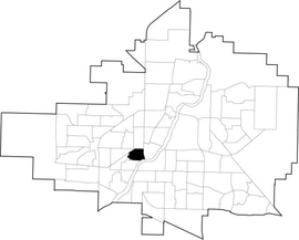 Riversdale location map