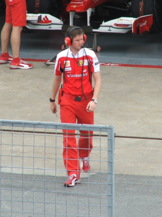 Race engineer - Scuderia Ferrari race engineer Rob Smedley at the Formula 1 2010 Canadian Grand Prix.