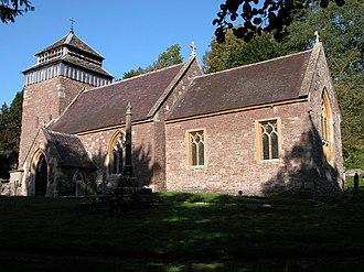 Rockfield, Monmouthshire - St Cenedlon church