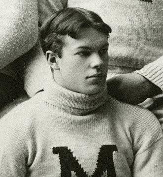 Roger Sherman (American football) - Sherman from the 1891 Michigan team photograph