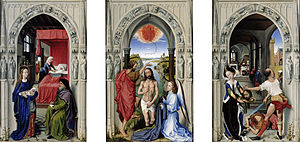 Miraflores Altarpiece - Image: Rogier van der Weyden The Altar of St. John Google Art Project