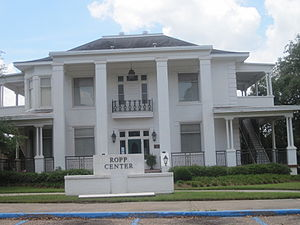 F. Jay Taylor - The Ropp Center on the Louisiana Tech University campus served as the president's home during the tenure of F. Jay Taylor.