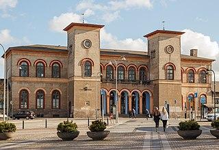Roskilde station railway station in Roskilde Municipality, Denmark
