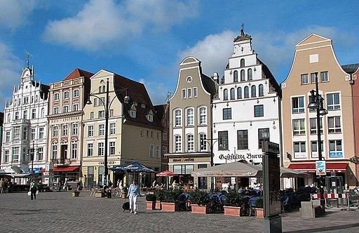 Rostock Giebelhäuser Markt