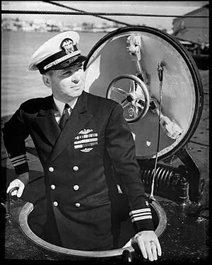 Roy M. Davenport - Rear Admiral Roy M. Davenport as a Lieutenant Commander