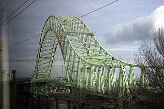 Silver Jubilee Bridge - The bridge, as seen from the Runcorn Railway Bridge