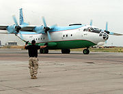 Russian-built Antonov AN-12