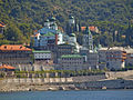 Russian President Putin was paying a visit to St. Panteleimon Monastery, the Russian Orthodox monastery as we were leaving (3939789075).jpg