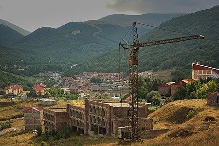 Rusty crane in Tsaghkadzor