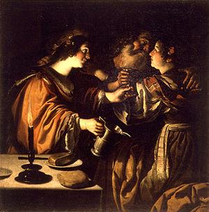Rutilio di Lorenzo Manetti - Image: Rutilio Manetti Loth y sus hijas 1620