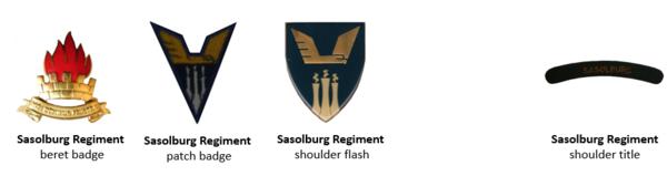 SADF Regiment Sasolburg insignia