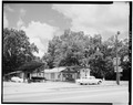 SOUTH FRONT AND WEST SIDE - Billy Carter Service Station, 216 West Church Street, Plains, Sumter County, GA HABS GA,131-PLAIN,1-3.tif