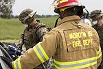 SPMAGTF-CR-AF Marines & Spanish firefighters conduct vehicle extrication training 160427-M-QM580-014.jpg