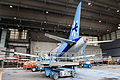 SSJ100 for Interjet - Painting the livery (8463918809).jpg