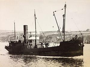 SS Cushag - SS Cushag approaches Peel.