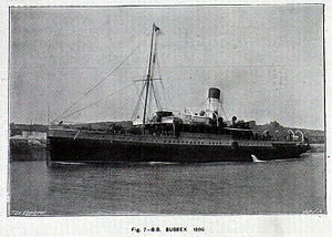 SS Sussex - SS Sussex in the English channel