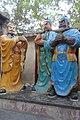 SZ 深圳 Shenzhen 南山大道 Nanshan Blvd 關帝廟 Emperor Guan Temple open garden three big brothers March 2017 IX1 (2).jpg