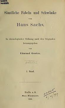 Sämtliche Fabeln und Schwänke. 1 (1893) (Source: Wikimedia)
