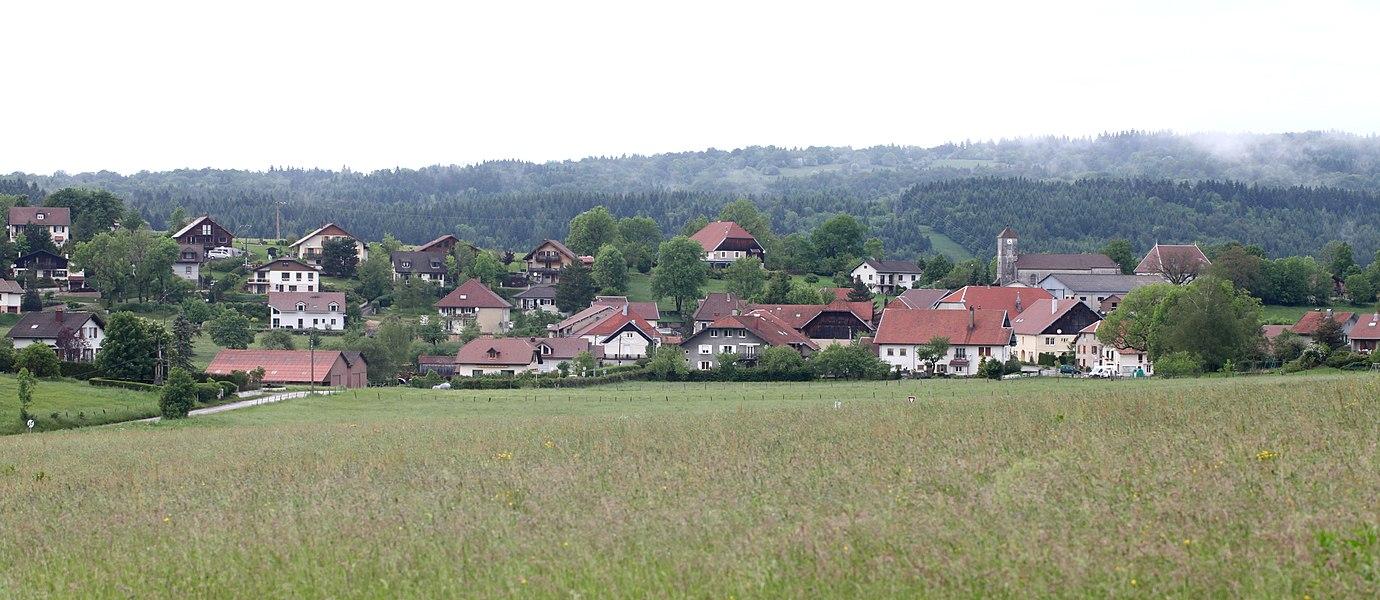 Vue de Saint-Gorgon (Doubs).