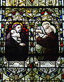 Saint Patrick Church (Columbus, Ohio) - stained glass, St.s Vincent de Paul & Anthony of Padua.jpg