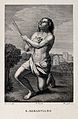 Saint Sebastian. Engraving by Buonafede after G.F. Barbieri, Wellcome V0033061.jpg