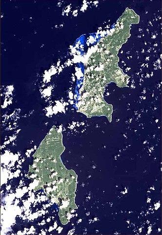 Satellitenfoto Saipan und Tinian