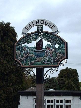 Salhouse - Image: Salhouse village sign