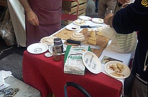 Terra Madre Salone del Gusto - Stand of Montebore cheese (2016 edition)