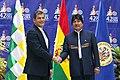 Saludo de los Presidentes Evo Morales y Rafael Correa (7335805238).jpg