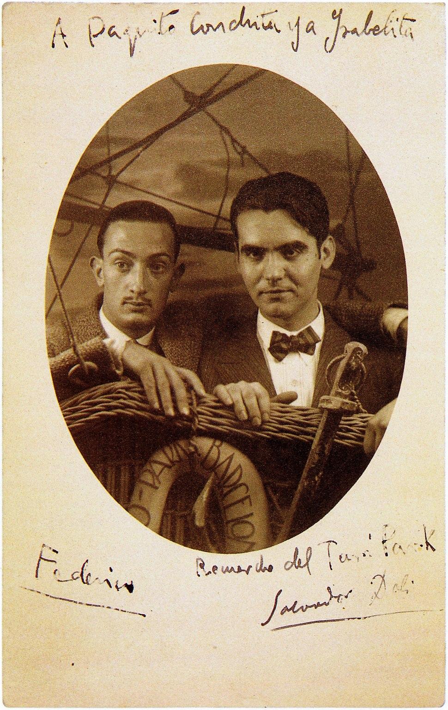Salvador Dalí, Federico García Lorca, Barcelona, 1925