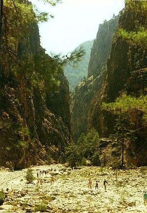 Samariá Gorge - Upper entrance