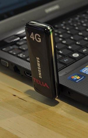 English: 4G LTE single mode modem by Samsung, ...