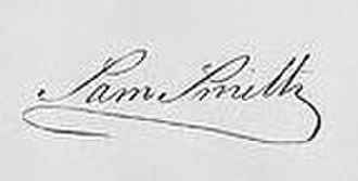 Samuel Smith (Maryland) - Image: Samuel Smith (1752 1839) (signature)