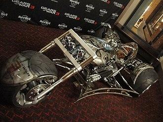 Gears of War 3 - The Gears of War 3 trike at Comic-Con 2011.