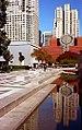 San Francisco - SFMOMA Reflected from MLK Fountain (1670364315).jpg