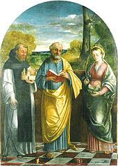 Saint Mark between Saints Leonard and Catherine