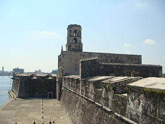 First Mexican Republic - Fort of San Juan Ulúa, last bastion of Spanish military power, finally taken by Mexico in 1825