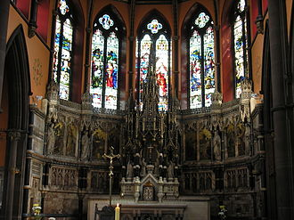 Pugin & Pugin - Sanctuary of the Sacred Heart Church, Liverpool designed in the 1890s