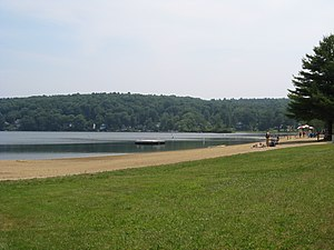 Ellington, Connecticut - Ellington's town beach, Sandy Beach, located on Crystal Lake