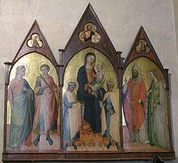 Lorenzo di bicci madonna con bambino e santi for Decorazione stanze vaticane