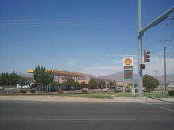Main street in Santa Teresa, NM