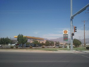 Santa Teresa, New Mexico - Main Street in Santa Teresa