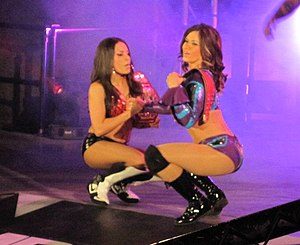 Mexican America (professional wrestling) - (Left to right) Rosita and Sarita as the TNA Knockouts Tag Team Champions