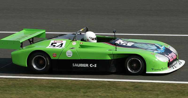 ファイル:Sauber C5 at Silverstone Classic Endurance Car Racing in September 2009.jpg