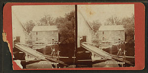 Strong, Maine - Image: Saw mill, Strong, Maine, from Robert N. Dennis collection of stereoscopic views
