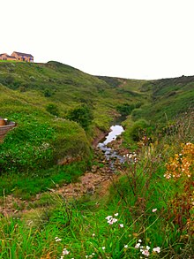 Scarborough Hills and the Sea Cut (Scalby Beck)