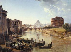 Sylvester Shchedrin - New Rome. Castel Sant'Angelo, 1823