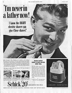 Schick 20 electric shaver 1953 ad.jpg