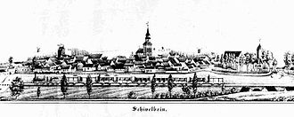 Świdwin - Schivelbein about 1860, with the new railway line to Stargard