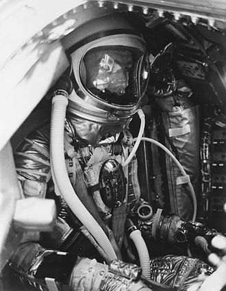 Breitling SA - Astronaut Scott Carpenter wearing a Breitling Cosmonaute inside the Aurora 7 spacecraft on May 24, 1962.